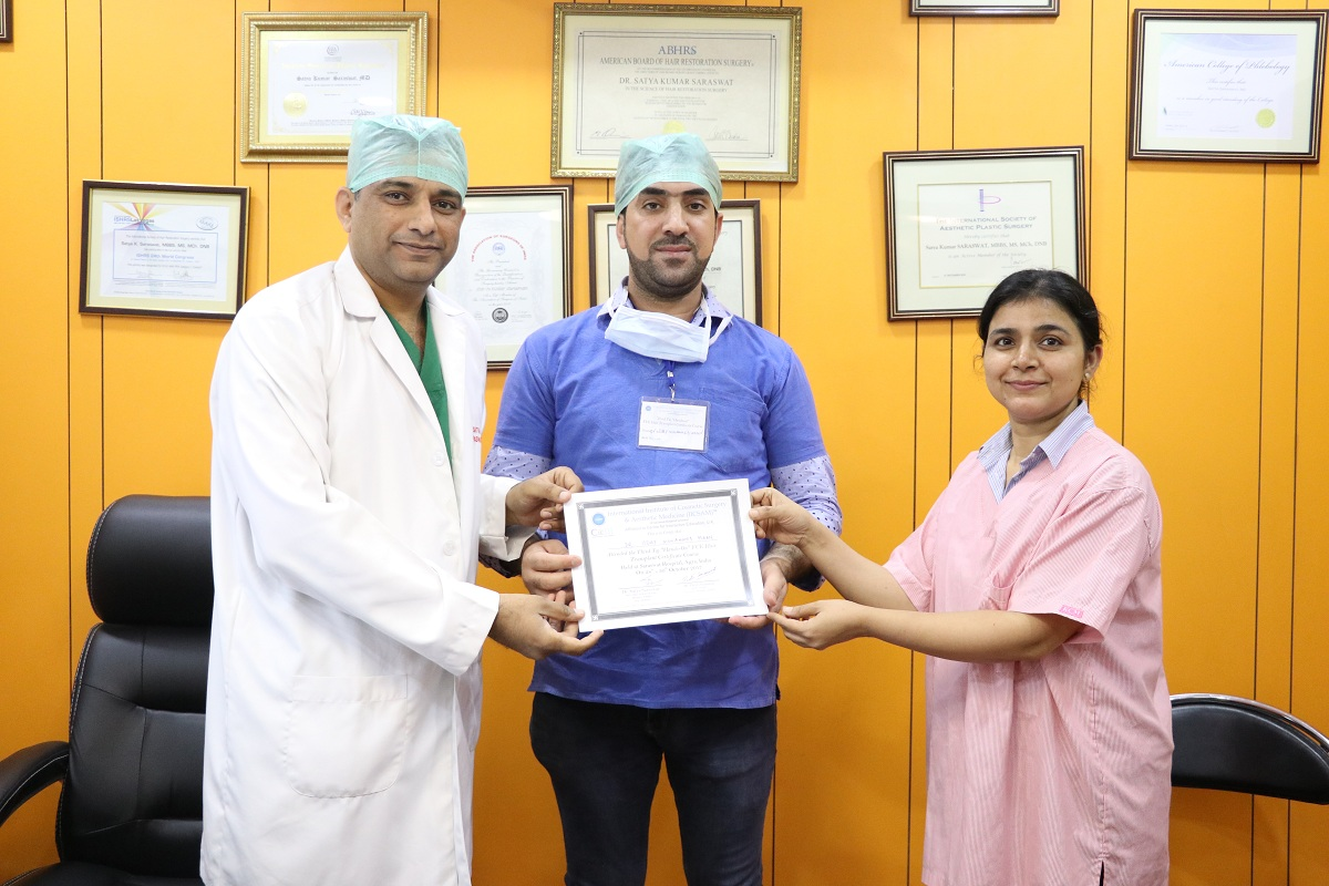 best hands on hair transplant, cosmetology courses in india